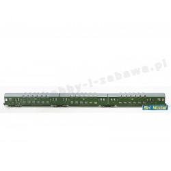 Rivarossi HRS 4229 Bhp PKP stacja Chojnice zestaw wagonów piętrowych