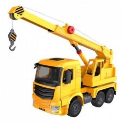 Ciężarówka z dźwigiem (dźwięki i światła, ręczna obsługa dźwigu)