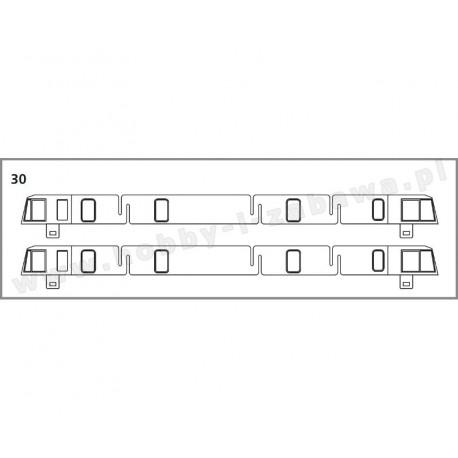 Piko 96360-30 grupa 10 części zamienne serwisowe - okna boczne, PIKO-ET10