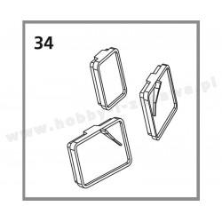 Piko 96360-34 grupa 7 części zamienne serwisowe - okno przednie, PIKO-ET07