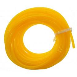 Silikonowy przewód paliwowy 2.5mm / 5.3mm 1m (paliwo żarowe) - żółty