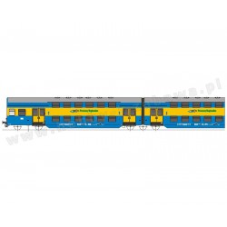 Rivarossi HRS 4238 Bhp, typ Görlitz 74, PR stacja Chojnice zestaw 4 wagonów piętrowych