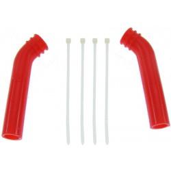 Silikonowa nakładka na tłumik (deflektor) 10mm (czerwony) -1 szt.
