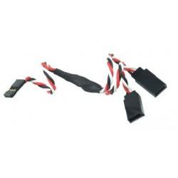 Y - kabel rozgałęziacz Futaba 30cm 26AWG skręcony