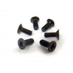 Śruby z łbem płaskim 3x10 6 szt. - 31070