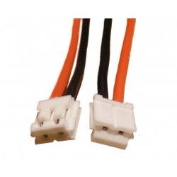 Wtyczka 2-pin EH biała z przewodem 22AWG 30,5cm