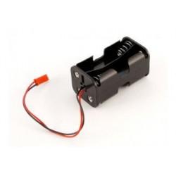 Koszyczek kostka na 4 akumulatory R6/AA z wyjściem JST - H0012