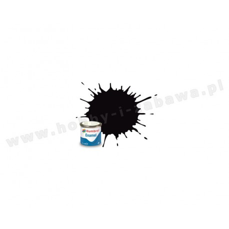 HumbrolAA6392 black metallic 14 ml enamel paint farba olejna 201
