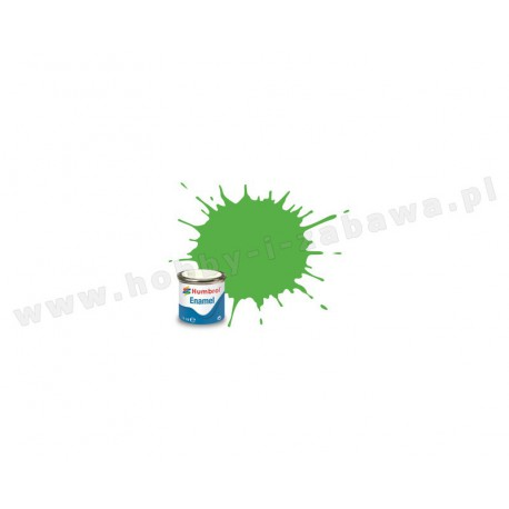 Humbrol AA7081 Fluorescent Signal Green Gloss 14 ml Enamel Paint farba olejna 208
