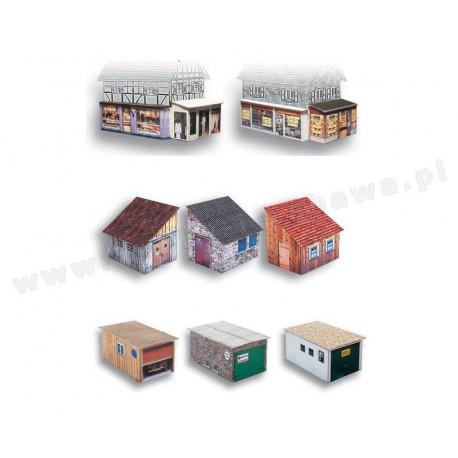 Heki 10510 garaże, szopy, przybudówki i witryny skala H0
