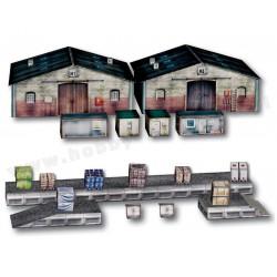 Heki 10600 magazyny kontenery rampa i ładunki skala H0