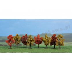 Heki 1141 jesienne drzewa liściaste 4 cm 8 szt skala Z