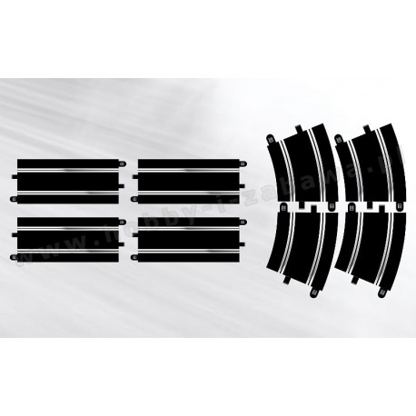 Scalextric C8556 zestaw nr 7 tor prosty x 4 łuk R3 x 4