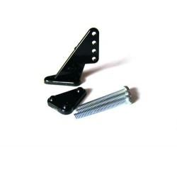 Dźwignia steru mała krótka 1,0mm, Czarna, 2 zest.