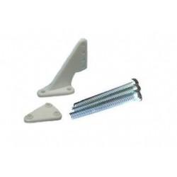 Dźwignia steru mała krótka 1,0mm, Biała, 2 zest.