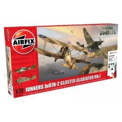 Airfix A50179 Junkers JU87R-2 Gloster Gladiator Dog Fight Double zestaw prezentowy 1:72