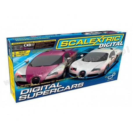 Scalextric C1322 Digital Supercars Set tor wyścigowy dla najmłodszych 5+