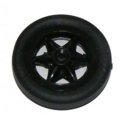 Koło gumowe szprychowe 25mm