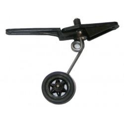 Koło ogonowe skrętne gumowe szprychowe 25mm