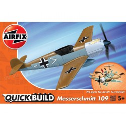 Airfix J6012 Messerschmitt (Desert) model do składania QUICK BUILD