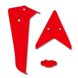 Statecznik pionowy i poziomy czerwony - S5-02B