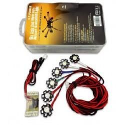 System oświetlenia LED do samolotów i hexacopterów