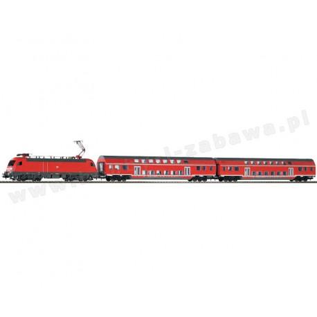 Piko 57171 zestaw startowy elektrowóz Taurus BR182 dwa wagony osobowe piętrowe DB AG Regio