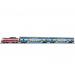 Piko 97918 zestaw startowy SM42 593 Przewozy Regionalne plus dwa wagony osobowe