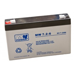 Pb 6V 7.2Ah bezobsługowy (waga 1.13kg, max. prąd ład. 2A)