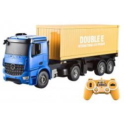 Ciężarówka kontenerowa Mercedes-Benz 1:20 2.4GHz (dźwięki i światła, otwierane drzwi, odpinana naczepa)