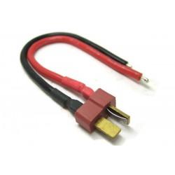 GPX: Złącze T-dean męskie kabel silikonowy 16AWG 15cm