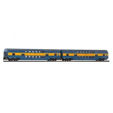 Piko zestaw wagonów piętrowych PKP 2kl TORUŃ kpl 2szt - luz