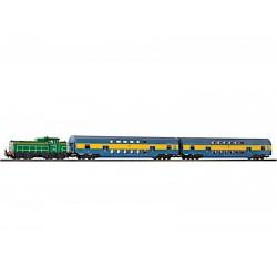 Piko 97924 zestaw startowy SM42 984 plus dwa wagony piętrowe PKP
