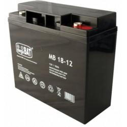 Akumulator AGM żelowy bezobsługowy MB 18-12 (12V 18Ah)