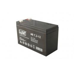 Pb 12V 7.2 Ah bezobsługowy (waga 1.9kg, max. prąd ład. 1.8A)
