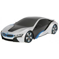 BMW i8 1:24 RTR (zasilanie na baterie AA) - srebrny
