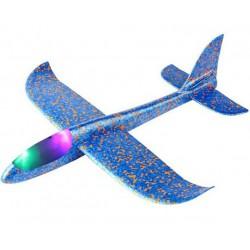 Szybowiec z dwoma trybami latania (rozpiętość 480mm, diody LED) - niebieski