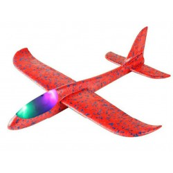 Szybowiec z dwoma trybami latania (rozpiętość 480mm, diody LED) - czerwony