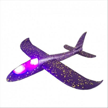 Szybowiec z dwoma trybami latania (rozpiętość 480mm, diody LED) - fioletowy