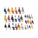 Kibri 38114 figurki pasażerowie, podróżni skala H0