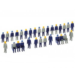 Kibri 38112 figurki robotnicy skala H0