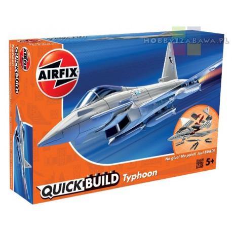 Klocki|Airfix|QUICKBUILD|J6002|Eurofighter|Typhoon|samolot do składania|modelarstwo|plastikowe