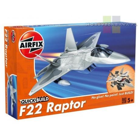 Klocki|Airfix|QUICKBUILD|J6005|F22|Raptor|samolot do składania|modelarstwo|plastikowe