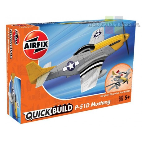 Klocki|Airfix|QUICKBUILD|J6016|Mustang|P-51D|samolot do składania|modelarstwo|plastikowe