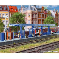 Kibri 39556 peron kolejowy z wiatą