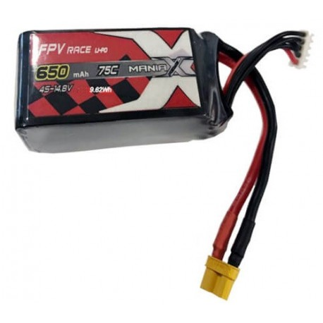 650mAh 14.8V 75C Racing ManiaX