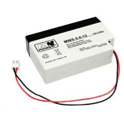 Pb 12V 0.8Ah bezobsługowy (waga 0.57kg, max. prąd ład. 0.2A, max. prąd rozł. 7A)