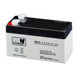 Pb 12V 1.3Ah bezobsługowy (waga 0.57kg, max. prąd ład. 0.3A)