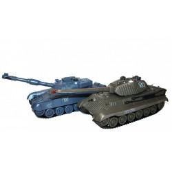 Zestaw wzajemnie walczących czołgów Russian T90 v2 i German King Tiger v2 2.4GHz 1:28