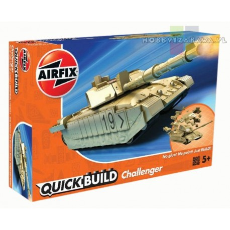 Klocki Airfix QUICKBUILD J6010 Challenger Tank czołg do składania, modelarstwo